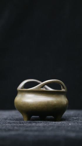 清中期|桥耳三足乳炉