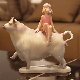 当代雕塑 艺术家周双作品  金牛