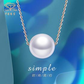中国珠宝 18K金淡水珍珠项链