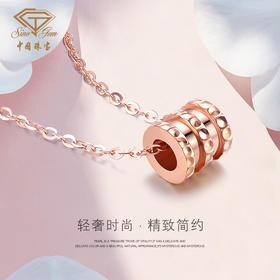 中国珠宝 18K金小蛮腰项链