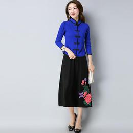 【特价清仓,只为回馈老顾客】E8602-334针织衫上衣ZF(买上衣送黑色棉麻裙子一条)