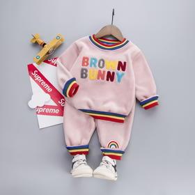 BQMY新款儿童时尚气质加绒卫衣裤子两件套TZF