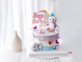 【女神】星黛露兔子小气球创意生日蛋糕