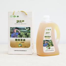 绿中源赣南茶油 一级压榨 纯山茶油 2升/壶