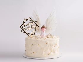 【超可爱】天使的约定男宝宝款·卡通生日蛋糕