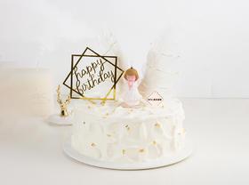 【超可爱】天使的约定女宝宝款·卡通生日蛋糕