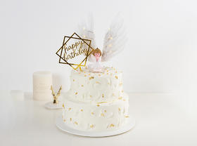 【超可爱】天使的约定·卡通双层生日蛋糕