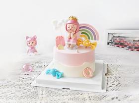 【童趣】粉色系公主风梦幻甜美生日蛋糕