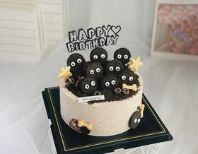 黑色奥利奥搞怪好玩生日蛋糕