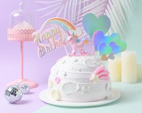 【童趣】粉色独角兽亮片闪闪儿童蛋糕