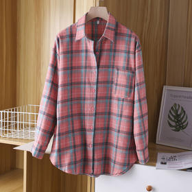 PDD-YRM210120新款韩版时尚气质休闲百搭格子印花米奇衬衣TZF