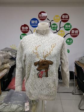 【清仓特价 不退不换】21  时尚气质休闲半高领长袖针织毛衣