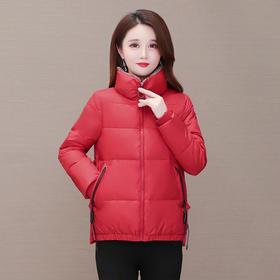 YWE-JJ-6333新款时尚气质修身立领长袖保暖短款棉服外套TZF