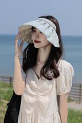 超实用! 发型不会乱!阻隔紫外线99% 以上,全脸环绕式防晒云朵帽