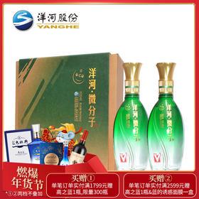 洋河微分子(大V)礼盒33.8度248ml 2瓶装