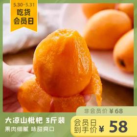 [大凉山枇杷 下单后1-3天发货]果肉细腻 味甜爽口 3斤装(约30-45个果)