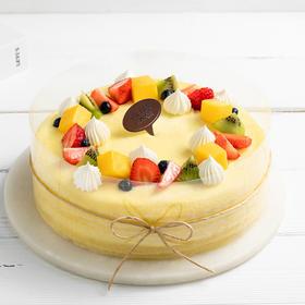 鲜芒可丽多蛋糕,经典手工煎制层层薄嫩,缤纷鲜果荟萃清新,2磅(西宁)