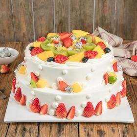 双层6磅浪漫果纷 蛋糕 (柳州)